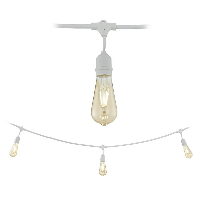 Adapt Series Commercial 24-Light White String Light Set