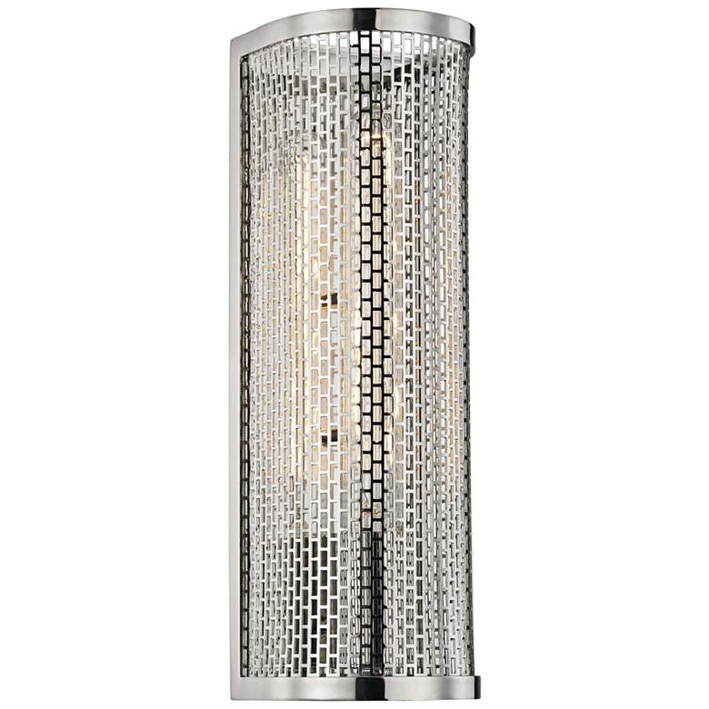 "Mitzi Britt 13"" High Polished Nickel Wall Sconce"