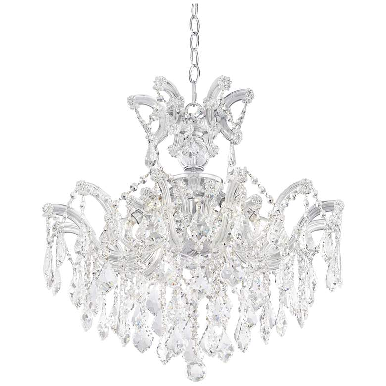 """Maria Theresa Imperial 21"""" Wide 6-Light Crystal Chandelier"""