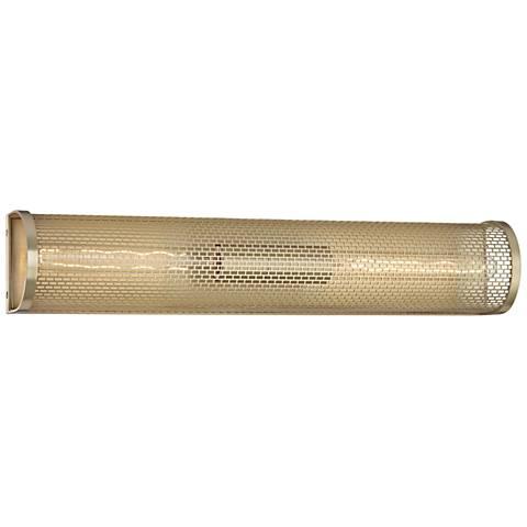 """Mitzi Britt 23"""" High Aged Brass 2-Light Wall Sconce"""