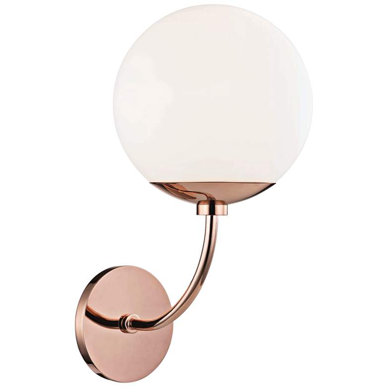 "Mitzi Carrie 14 3/4"" High Polished Copper Wall Sconce"