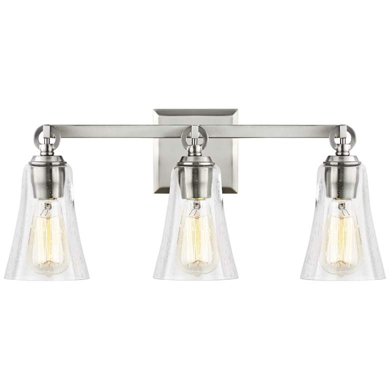 "Feiss Monterro 21 3/4"" Wide Satin Nickel 3-Light Bath Light"