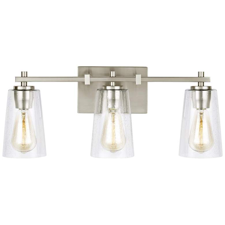 "Feiss Mercer 21 1/2"" Wide Satin Nickel 3-Light Bath Light"