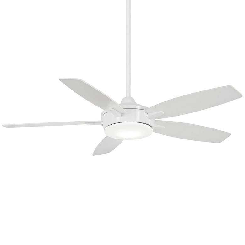 "52"" Minka Aire Espace White LED Ceiling Fan"
