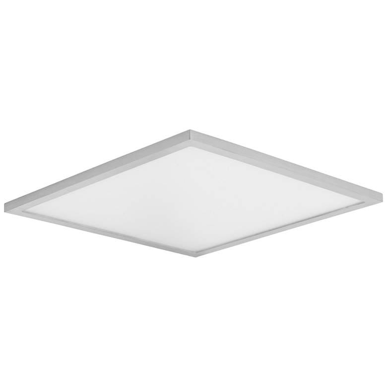 "Maxim Wafer 15""W Satin Nickel 3000K LED Square Ceiling Light"