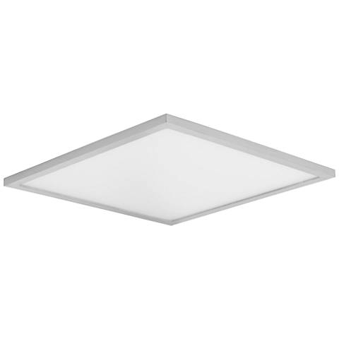 "Maxim Wafer 15""W Satin Nickel 3000K LED Square Ceiling Light"