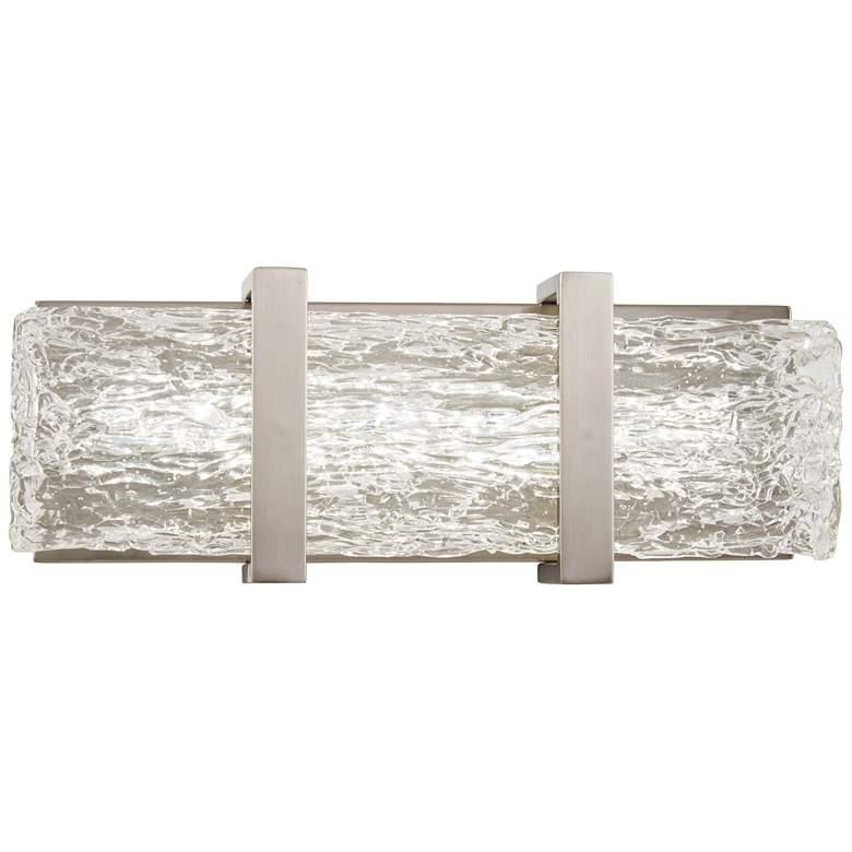 """George Kovacs Forest Ice II 15"""" Wide Chrome LED Bath Light"""