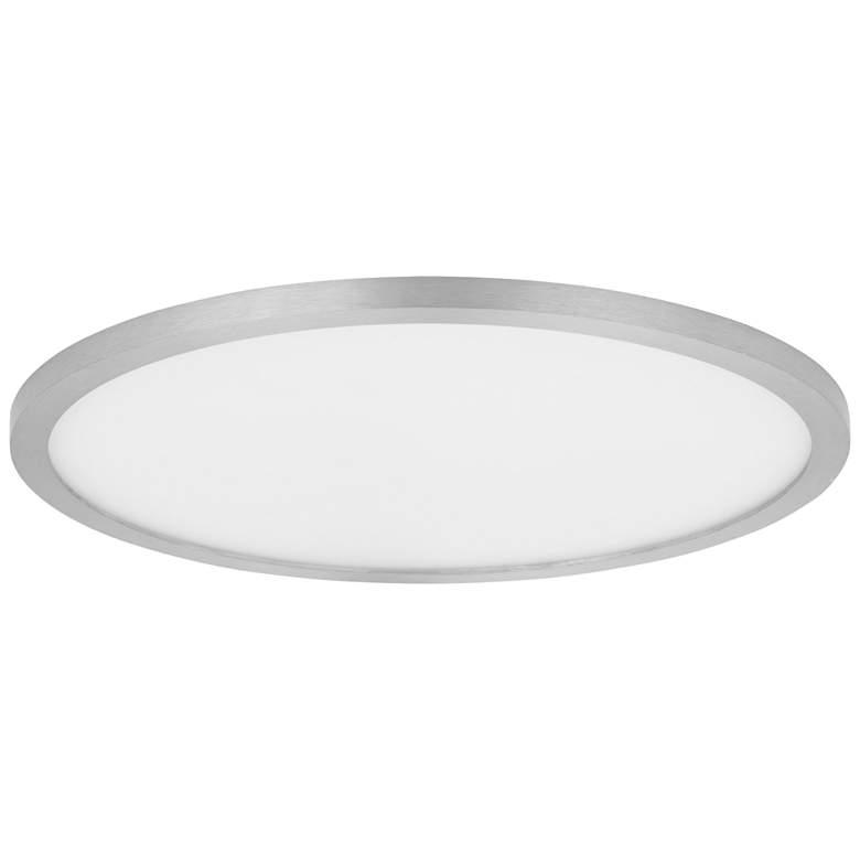 "Maxim Wafer 15""W Satin Nickel 3000K LED Round Ceiling Light"