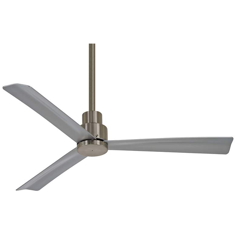 """44"""" Minka Aire Simple Brushed Nickel Outdoor Ceiling Fan"""