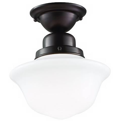 Hudson Valley Edison Old Bronze Semi-Flush Ceiling Light