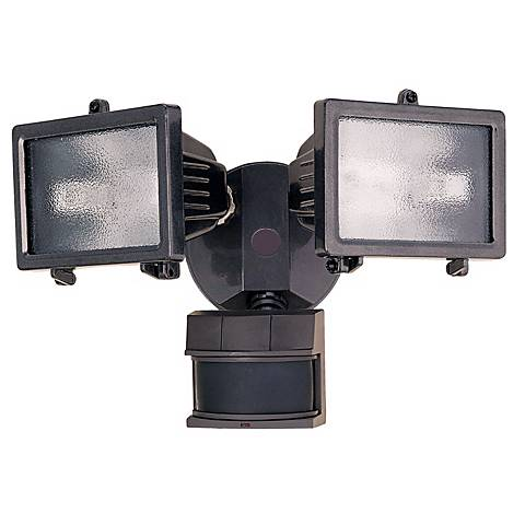 "Bronze Finish 13"" Wide 2-Light Motion Sensor Security Light"