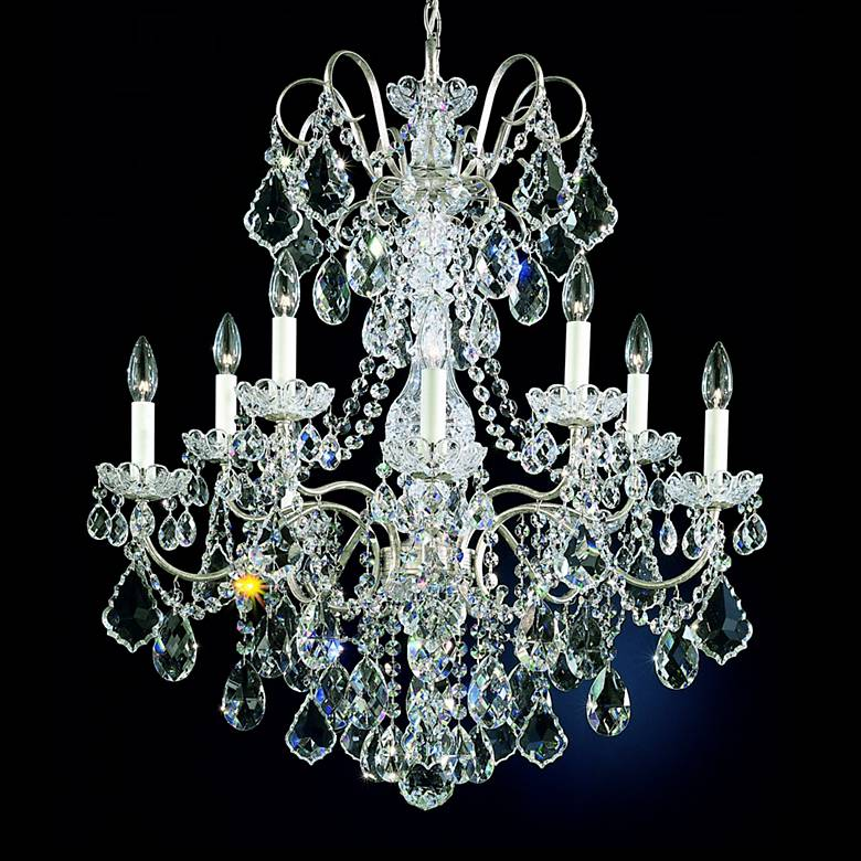 "Schonbek New Orleans 28""W Silver Hand-Cut Crystal Chandelier"