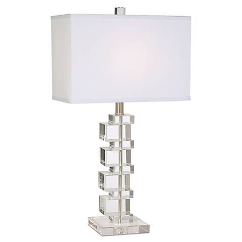 Vienna Full Spectrum Crystal Cube Table Lamp