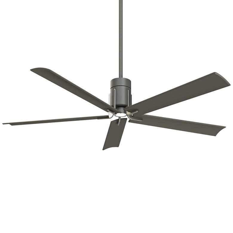 "60"" Minka Aire Clean Grey Iron LED Ceiling Fan"