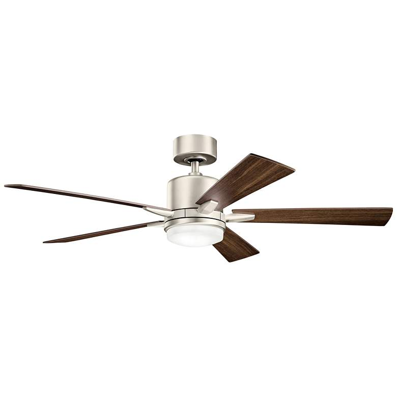 "52"" Kichler Lucian Brushed Nickel LED Ceiling Fan"