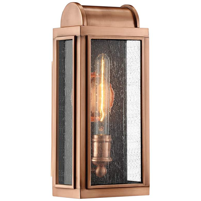 """Quoizel Danville 14 1/2"""" High Aged Copper Outdoor Wall Light"""