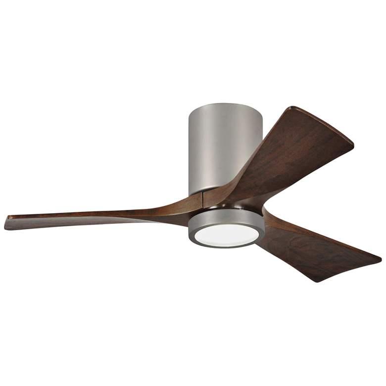 """42"""" Irene-3HLK Nickel 3-Blade LED Damp Hugger Ceiling Fan"""