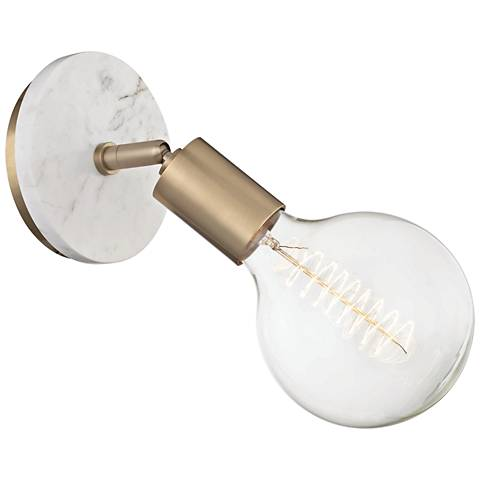 "Mitzi Chloe 9 1/2"" High Aged Brass Wall Sconce"