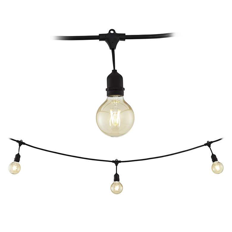 Tivoli Commercial 24-Light Black LED String Light Set