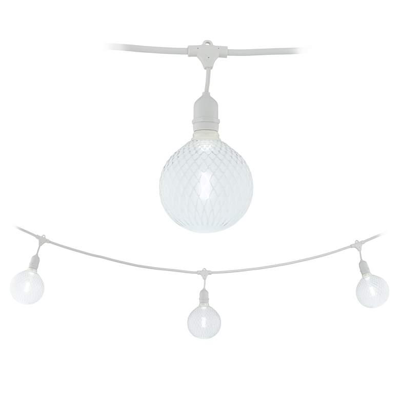 Adapt 24-Light Gaby Diamond Pattern White String Light Set