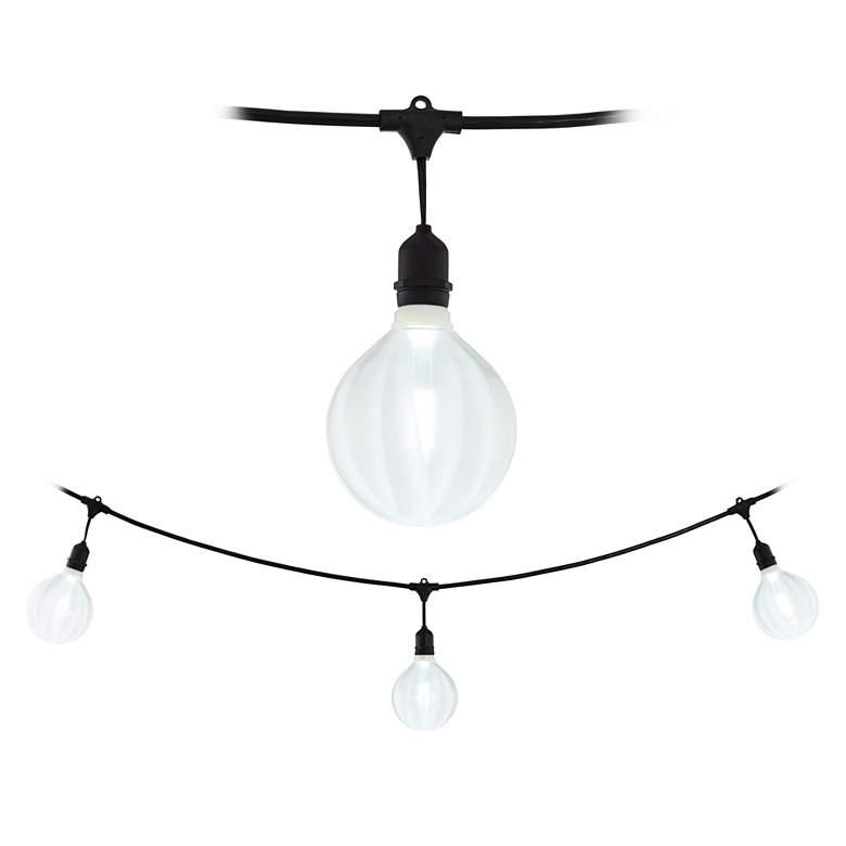 Adapt 24-Light Katie Ribbed Bulb Black String Light Set