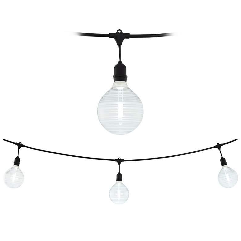 Adapt 24-Light Angela Ring Pattern Black String Light Set