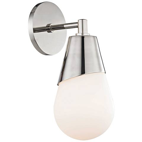 "Mitzi Cora 11 3/4"" High Polished Nickel Wall Sconce"