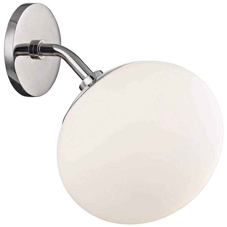 "Mitzi Estee 10"" High Polished Nickel Wall Sconce"