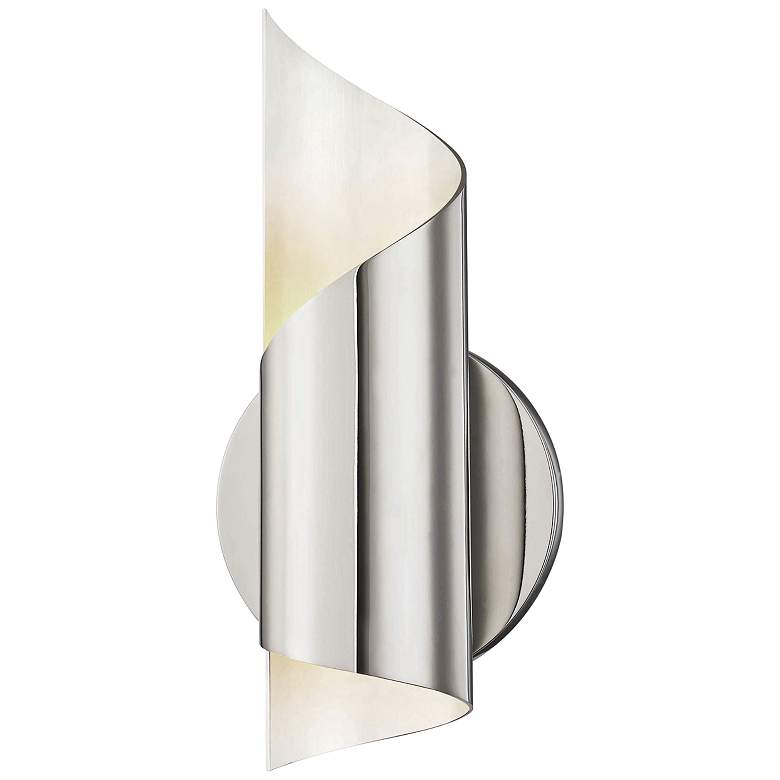 """Mitzi Evie 10"""" High Polished Nickel LED Wall Sconce"""