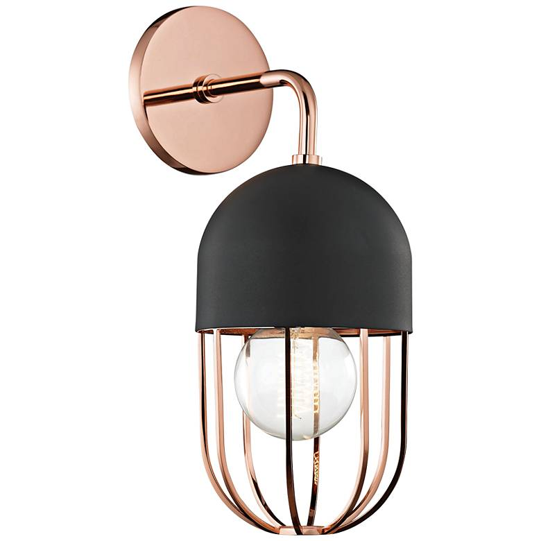 "Mitzi Haley 14"" High Polished Copper Wall Sconce"