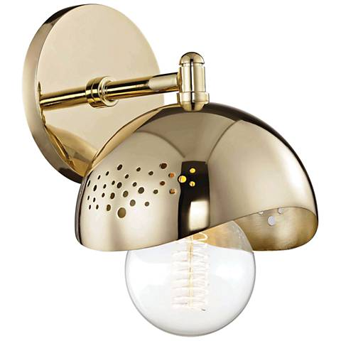 "Mitzi Heidi 8 1/2"" High Polished Brass Wall Sconce"