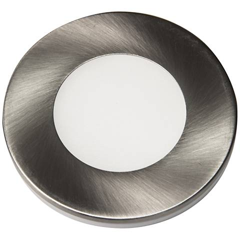 "Slim Puck 12VDC 3"" Wide Brushed Nickel 3000K LED"