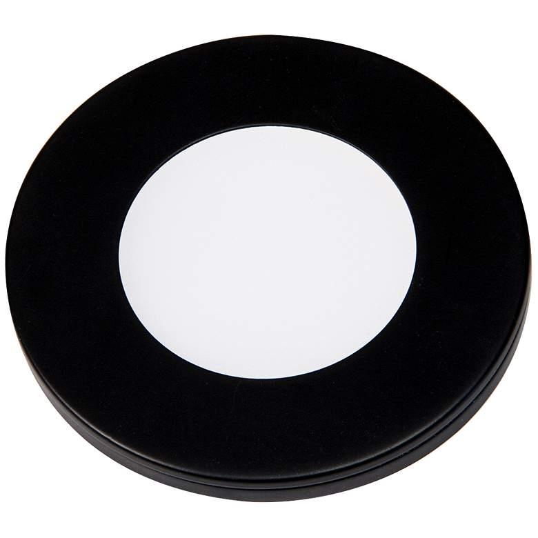 """Slim Puck 12VDC 3"""" Wide Black 3000K LED"""