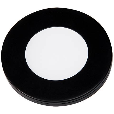"""Slim Puck 12VDC  3"""" Wide Black 3000K LED Slim Puck Light"""