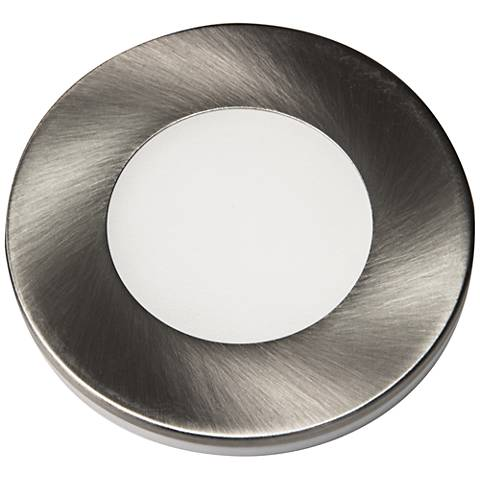 "Slip Puck 12VDC  3"" Wide Brushed Nickel 4000K LED Light."