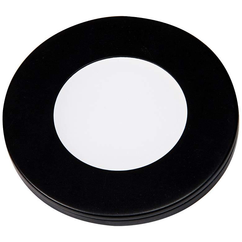 "Slim Puck  12VDc  3"" Wide Black 4000K LED Light."