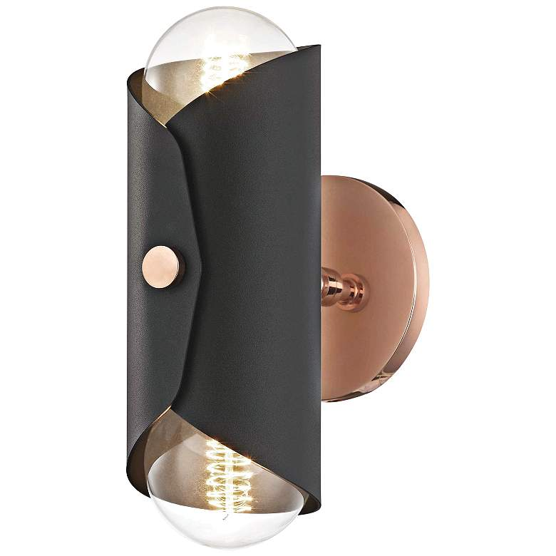 "Mitzi Immo 11"" High Copper and Black 2-Light"