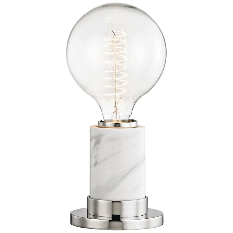 """Mitzi Asime Polished Nickel 10"""" High Accent Table Lamp"""