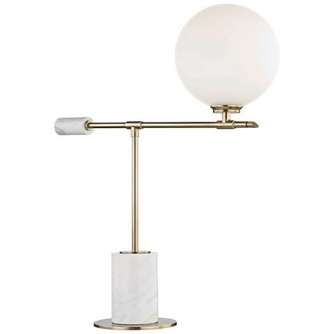 Mitzi Bianca Aged Brass LED Accent Table Lamp