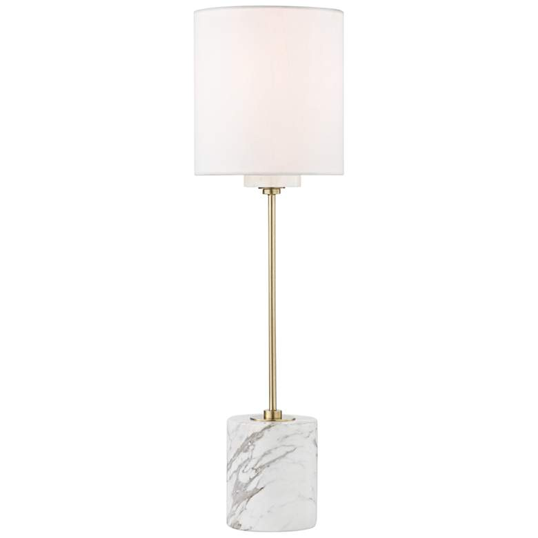 Mitzi Fiona Aged Brass Accent Table Lamp