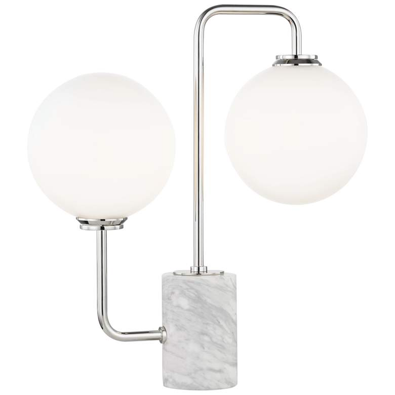 """Mitzi Mia Polished Nickel 17 1/4"""" High LED Accent Table Lamp"""
