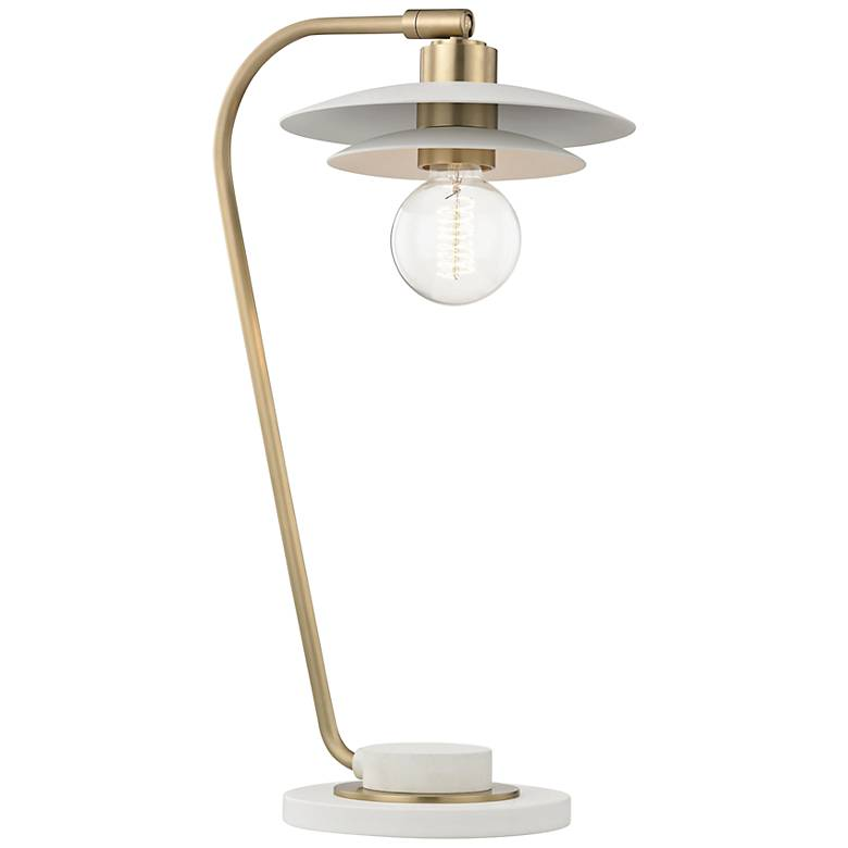 Mitzi Milla Aged Brass Accent Table Lamp