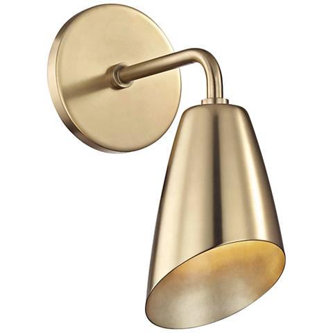 "Mitzi Kai 10 1/4"" High Aged Brass LED Wall Sconce"