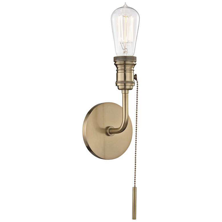 "Mitzi Lexi 12 1/4"" High Aged Brass Wall Sconce"