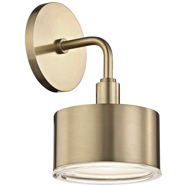 """Mitzi Nora 9"""" High Aged Brass LED Wall Sconce - #46E45 ... on Aged Brass Wall Sconce id=46820"""