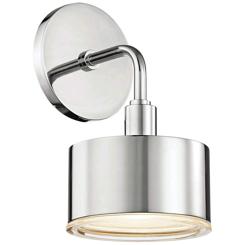 """Mitzi Nora 9"""" High Polished Nickel LED Wall Sconce"""