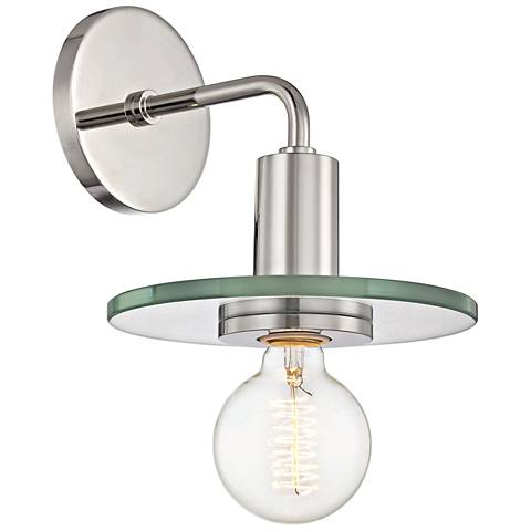 "Mitzi Peyton 11 1/4"" High Polished Nickel Wall Sconce"