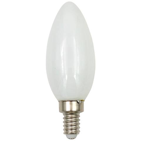 40W Equivalent Milky 4W LED Dimmable Torpedo Candelabra Bulb
