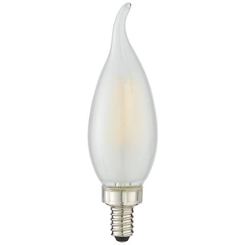 40W Equivalent Milky 4W LED Dimmable Flame Candelabra Bulb