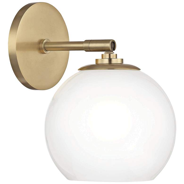 """Mitzi Tilly 9"""" High Aged Brass LED Wall Sconce"""